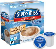 Keurig - Swiss Miss Milk Chocolate Hot Cocoa K-Cup® Pods (16-Pack), 1251