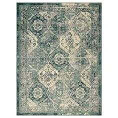 The pattern looks faded and worn, which gives the rug a vintage look similar to oriental rugs. The oriental-vintage expression and colours fit in both modern and traditional furniture. Ikea Living Room, Living Room Green, Living Rooms, Lohals, Wet Spot, Medium Rugs, Professional Carpet Cleaning, Collage Template, Types Of Flooring