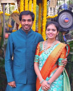 Anirudh Kankatala and his wife Sonika. Bhogi 2019 was special - it being Sonika's first Bhogi as a member of the Kankatala family. Sonika…