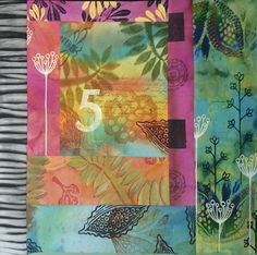 Traditionally, prayer flags are used to promote peace, strength, well-being and wisdom, and when blown by the wind, spread good will and compassion. Make unique prayer flags by painting colorful fabrics with acrylic inks, then print each one with thermofax screens, stamps and incorporate words and images using Judy's printed abaca tissue papers.