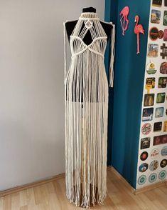 Hippie Festival, Festival Dress, Macrame Dress, Boho Dress, Boho Hippie, Bohemian Style, Recycled Dress, Handmade Dresses, Handmade Design