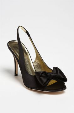 this is a great shoe but is it weird that it's black? -- kate spade new york 'sarah' pump Satin Pumps, Peep Toe Pumps, Black Bridesmaid Shoes, Cute Shoes, Me Too Shoes, Kate Spade Nordstrom, Thing 1, Evening Shoes, Designer Heels