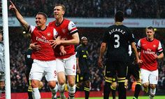 Arsenal vs Wigan last year. We beat them 4-1. Hopefully we can recreate that in the FA Cup semifinal at Wembley.  ~COYG