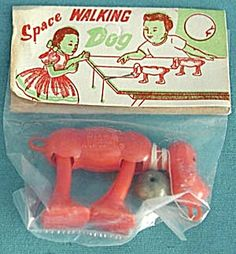 Space walking dog. You dropped the weight off the edge of the desk and the little dog would walk.