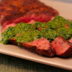 Grilled Flat Iron Steak Recipe with Chimichurri Sauce Recipe