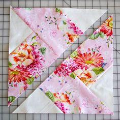 Classic Blocks: Fresh Fabric... the Whirlwind Quilt Block {tutorial}   She Sews!   Bloglovin'