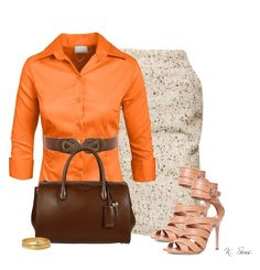 A fashion look from December 2015 featuring length sleeve shirts, camel pencil skirts and gianvito rossi sandals. Browse and shop related looks. Shirt Sleeves, Miu Miu, Color Schemes, Fashion Looks, Michael Kors, Female, Shoe Bag, Clothes For Women, My Style