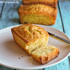 Saffron and Cardamom Olive Oil Pound Cake: moist, long lasting, and perfect with a cup of tea or coffee!