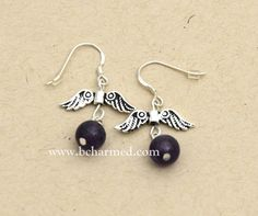 """""""I am always drawn to wings. They are beautiful, and they have special meaning for so many people. I love the simple elegance of these earrings"""" ~ Jessica Bolda    bcharmed is excited to share our new """"Amethyst Wing Earrings"""" #41041 designed by Jessica Bolda! Contact your stylist to order! www.bcharmed.com"""