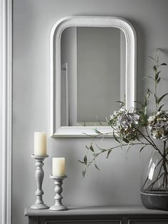 Berkley Mirror Large - Grey