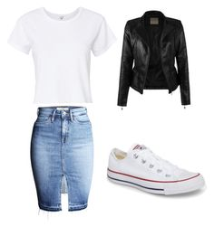 """""""Untitled #14"""" by lmtv on Polyvore featuring RE/DONE and Converse"""