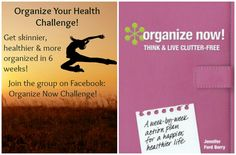 Organize your health in 6 weeks and become skinner, healthier and more organized! Join this book challenge today! www.jenniferfordberry.com