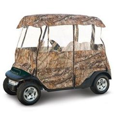 Classic Accessories Deluxe Camo Golf Car Enclosure (Fits Most Popular Two-Person Golf Cars) by Classic Accessories. Save 17 Off!. $154.34. The deluxe camo golf car enclosure fits most two-person golf cars, and keeps them clean and dry in storage.