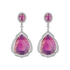 Double Drop Pink Sapphire Earrings by Penny Preville at London Jewelers!