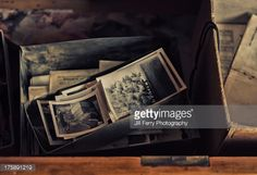 Stock Photo : Photos in a drawer