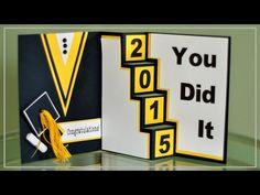 Graduation Card with Cricut Explore - YouTube