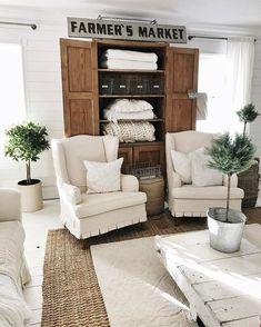 Gorgeous Farmhouse Living Room Ideas (20)