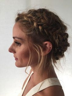 Olivia Palermo's pretty, braided hairstyle.
