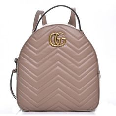 2265c37ffa19 This is an authentic GUCCI Calfskin Matelasse GG Marmont Backpack in  Porcelain Rose. This shoulder