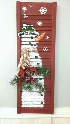 Image result for window shutter christmas craft