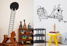 Adesivos de Parede: Ideias para o quarto das crianças