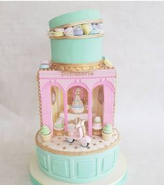 Paris inspired cake by . Swipe to have a closer look at the details 😍 . How would you rate this cake from 1 to Please… Paris Birthday Cakes, Paris Themed Cakes, 13 Birthday Cake, Paris Cakes, Birthday Ideas, Bon Voyage Cake, Patisserie Cake, Chocolates, First Communion Cakes
