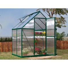 You'll love spending time amongst green plants, colorful flowers, and fresh produce with the Palram Nature Greenhouse - Twin-Wall - Mythos Series. Greenhouse Frame, Small Greenhouse, Greenhouse Plans, Aquaponics Greenhouse, Backyard Greenhouse, Homemade Greenhouse, Portable Greenhouse, Polycarbonate Greenhouse, Polycarbonate Panels