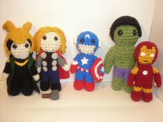 Avengers assemble! spikefan made these adorably badass amigurumi superheroes.