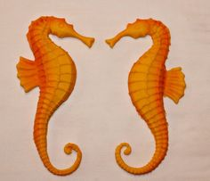 Set of 2 Seahorse Cake Toppers by SweetcreationsbyGigi on Etsy Seahorse Cake, Fondant Cake Toppers, Wedding Cakes, Unique Jewelry, Beach, Handmade Gifts, Etsy, Wedding Gown Cakes, Kid Craft Gifts