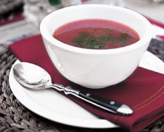 Chilled Heirloom Tomato Soup with Yellow Tomato Drizzle