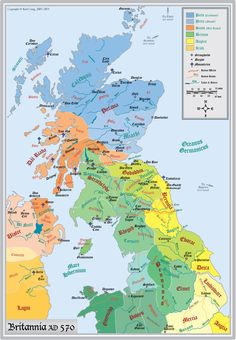 An ethnographic map of Northern Britain in 570 AD