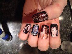 The vampire diaries nail art design