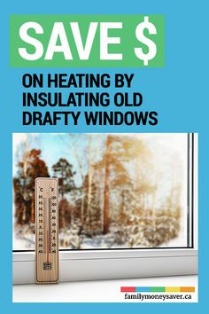 It's an overused saying now, but winter is coming! So you should be prepared for when the cold weather hits by keeping the outside air flowing through your old windows to a minimum and keeping as much warmth inside as possible. Old Windows, Winter Is Coming, Ways To Save, Insulation, Things To Come, Cold Weather, Canada, Money, Check