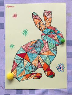 Easter arts and crafts for kids. Easter Art, Easter Crafts, Easter Bunny, Art For Kids, Crafts For Kids, Arts And Crafts, Kindergarten Science Projects, Lapin Art, Diy Ostern