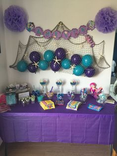 Awesome balloon decorations for baby shower - shower . Awesome Balloon Decorations for Baby Shower – – Mermaid Theme Birthday, Little Mermaid Birthday, Little Mermaid Parties, Mermaid Baby Showers, Baby Mermaid, Mermaid Baby Shower Decorations, Shower Baby, Mermaid Birthday Party Decorations Diy, Mermaid Pinata
