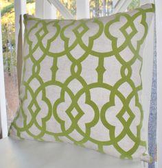 Decorative Designer Pillow  Green Raised Velvet by MotifPillows, $44.00
