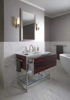 Robern Bathroom Sconces uncluttered and remarkably sleek, the v14 vanity has perfectly