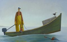 "david witbeck prints | Cecil"" by David Witbeck. 30"" x 48"" Oil on Canvas. Available at Maine ..."