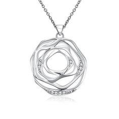 Hoy con el 32% de descuento. Llévalo por solo $10,000.Collar de cadena pendiente N713 de moda de la flor del hueco.