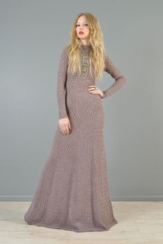 Rhinestone Studded Crochet Maxi Dress | BUSTOWN MODERN
