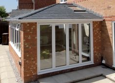 lean to Garden room Solid Roof Conservatory amp; Replace Your Existing Conservatory Roof With A Garden Room Roof - Tiled Roof - Real Roof - Hundreds Have Transformed Theirs Already - Why Not Ask For A . Conservatory Ideas Dining, Tiled Conservatory Roof, Conservatory Design, Conservatory Interiors, Bungalow Extensions, Garden Room Extensions, House Extensions, House Extension Plans, House Extension Design