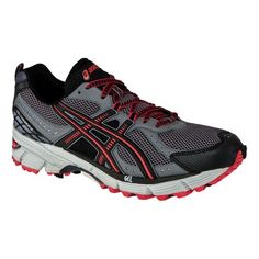 Men s ASICS GEL-Kahana 6 Trail Running Shoe - Titanium Black 10.5 Wide  Running 4675d69602