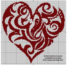 Free Cross Stitch Heart Swirl Pattern