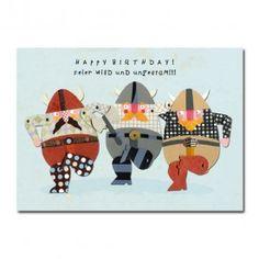 """Postkarte Wikinger """"Happy Birthday!"""""""