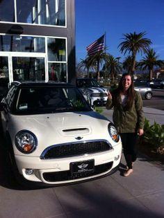 Kaitlin loves her new MINI COOPER S HARDTOP in Pepper White of course! Motor Advisor Kim Wilson. #miniofcamarillo