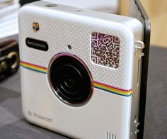 Polaroid is relevant for the first time since the '80s! This fun new camera allows you to instantly upload to your favorite social network sites such as Instagram, and it also lets you immediately print out your pictures so you can share them with your real life followers.