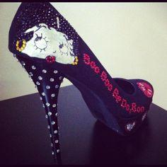 N2C Custom Heel Design (Betty Boop)