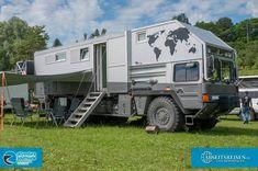 Motorhomes in Eigeltingen 2016 Adventure Campers, Off Road Adventure, Rv Truck, Truck Camping, Off Road Camping, Camping Life, Man Kat, Tactical Truck, Overland Trailer