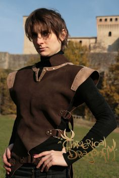 RANGER ARMOR UNISEX brown leather pagan by ChimericalDragonfly, $125.00
