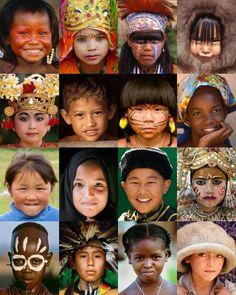 Mosaic of Children - Art Wolfe Around The World Theme, Kids Around The World, We Are The World, Small World, People Around The World, Around The Worlds, Precious Children, Beautiful Children, Beautiful Babies